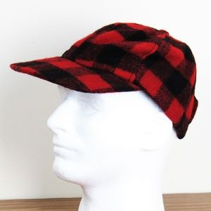 Other - Buffalo Red Black Check Hunter Cap Hat Made in U.S